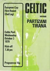 Celtic v Partizan Tirana 19791003 (tcbuzz) Tags: park club scotland football glasgow celtic programme