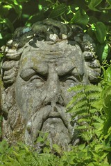 The Green Man Hides in the plants (Tony Shertila) Tags: england sculpture plants face geotagged europe unitedkingdom britain carving greenery ness wirral gbr nessgardens neston grenman geo:lat=5327265605 geo:lon=304222584