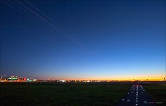 Flight Path (Clayton Perry Photoworks) Tags: longexposure summer canada night vancouver airplane lights flying stream bc richmond explorebc explorecanada vancitybuzz