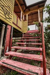 Stairway (Voodoooz) Tags: camera old city trip travel urban baby sun hot color sexy abandoned love water hospital photography photo nice decay urbandecay tripod extreme australian australia indoor eerie babe brisbane tourist adventure flashback explore infiltration qld queensland aussie urbex tourer urbanlight ubrex