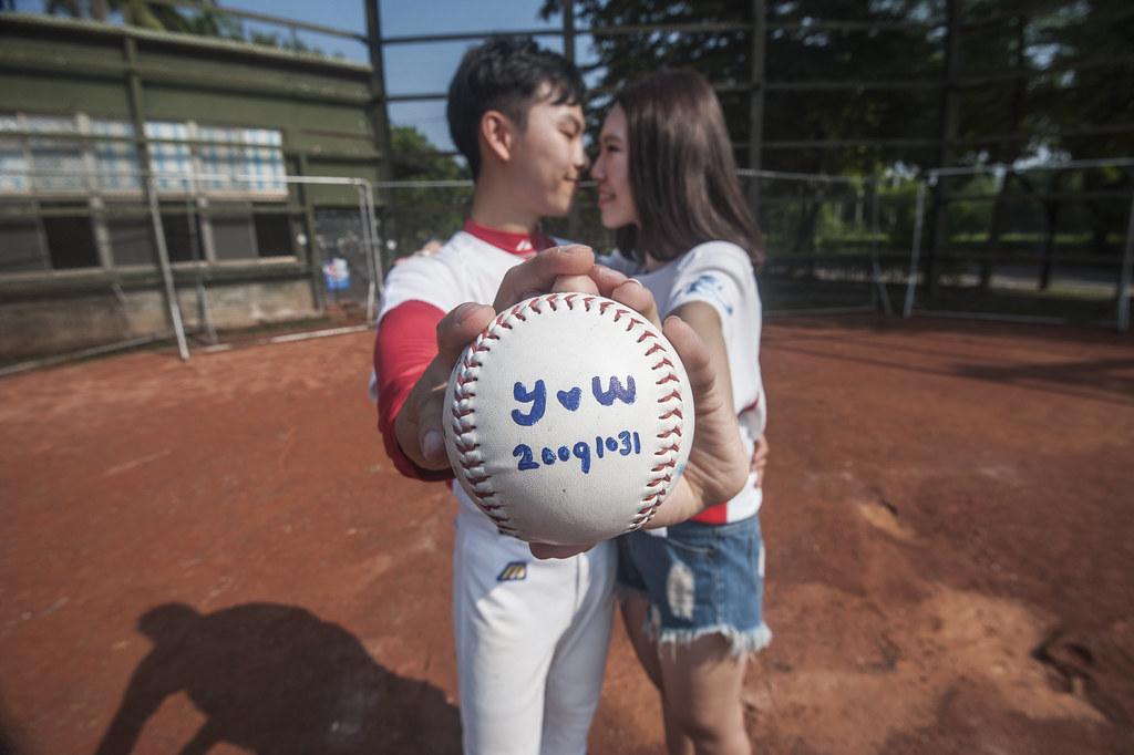 屏科大婚紗,紅毛港婚紗,棒球婚紗