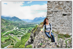 At the top of Sion (Olivia Heredia) Tags: naturaleza nature switzerland suisse verano chteau castillo hdr highdynamicrange sion valais tonemapped tonemapping 1exp schweis oliviaheredia oliviaherediaotero chteaudetourbillon vlere vlerecastle chteaudevlere