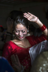 Fuoco (sabrina dattrino) Tags: travel nepal light red party portrait colors festival contrast fire dance asia happiness passion saree pokhara ritratto fuoco ballo nationalgeographic passione natgeo travelphotography felicità teej danze natgeotravel
