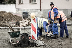 Leveling manhole.