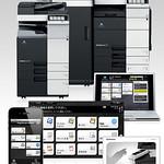 カラー複合機、アプリケーションの写真