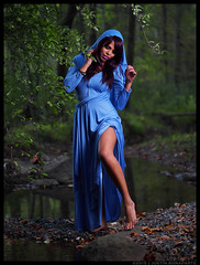 Ruby - All That You've Been Looking For (jfinite) Tags: halloween beauty fashion model woods dress legs environmental portraiture gown wooded