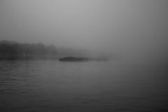 Brume sur le canal (celinadayton) Tags: blackandwhite mist nature water fog outside boat canal eau belgium belgique noiretblanc bateau paysage extrieur brouillard channel brume lige peniche herstal
