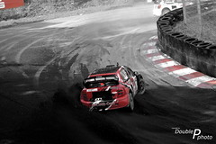 Redline (DoublePphoto) Tags: world red bw white black cars 1 nikon energy hungary european fotografie racing rs mk rx rallycross motorsport skoda fabia colorkey doublep championschip nikonphotography automobilephotography mnster motorsportphotography racingphotography doublepphoto