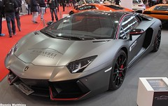 Aventador Roadster (The Rubberbandman) Tags: auto show road italy black car modern race germany design high cool italian essen fighter tech jet fast indoor super bull odd german wierd end vehicle motor gt edition lamborghini coupe motorshow fahrzeug notch roadster lambo avenger pirelli aventador