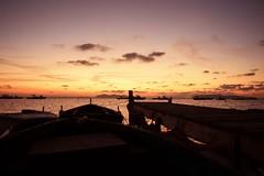 Sunset (sikanotp) Tags: sunset sea sky fire boat nikon tramonto mare 24mm saline nubia molo trapani paceco salineditrapaniepaceco nikond750