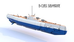 B-class Submarine (Thomas of Tortuga) Tags: lego render wwi submarine ldd bluerender