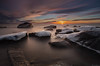 Winter_coming (JLindroos) Tags: lee filters big stopper sun rays long exposure seascape rocks winter snow ice freezing sea horizon clouds colors colorful canon zeiss pori reposaari finland jlindroos