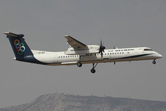 SX-BIU | DHC-8-402Q | Olympic Air (cv880m) Tags: athens venizelos eleftherios ath lgav sxbiu dash8 dhc8 dh8 dhc8400 q400 olympic olympicair turboprop