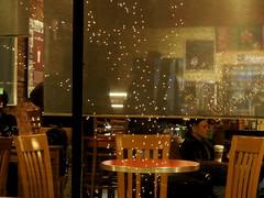 Window reflections (pilechko) Tags: coffeeshop clinton nj people reflections color night