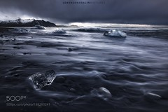 Dissolving Emotions (SeattleHVAC172) Tags: landscape morning sea beauty mountains winter water cold nature beach travel blue freedom ocean road beautiful natural creative moment time shore seascape ice exposure glacier iceberg wates iceland lorenzo nadalini wbpa