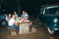 Conners, Dad, Chuck, Buddy Big Ivy Pisgah National Forest NC August 4-8 1954.jpg (buddymedbery) Tags: years daveconner pisgahnationalforest ruthconner friends 1954 family northcarolina unitedstates 1950s buddymedbery chuck dad
