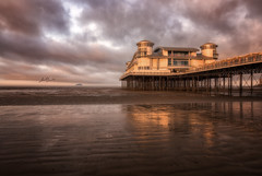 The Grand Pier Sunrise (Chris Sweet Photography) Tags: thegradpier westonsupermare pier seascape landscape outsdoors structure beach somserset clouds nikon sigma