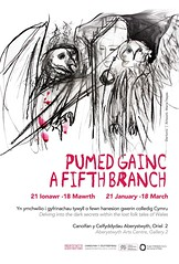 Pumed Cainc - A Fifth Branch (Jacob Whittaker) Tags: art exhibition poster aberystwyth celf arddangosfa ceredigion mabinogion