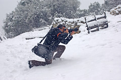 "on ""DUTY"" ! (gtsimis) Tags: photographer snowing winter outdoorphotographer telephoto pentaxk1 aw lowepromagnumaw pentaxk10d mountaineering mountains uphill allweather outdoor trees fence white hdpentaxdfa70200f28 oblos achaia greece"