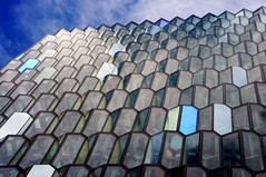 Fish Out of Water (sidewinder_7777) Tags: pattern repitition glass architecture building design reykjavik iceland