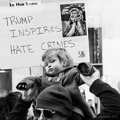 New York (ale neri) Tags: street bw trump hate portrait people aleneri nyc newyork ny manhattan streetphotography blackandwhite alessandroneri