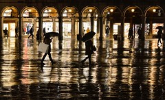 venice rainy night (poludziber1) Tags: venice venezia night street skyline rain gold people italia italy city colorful cityscape water travel urban umbrella challengeyouwinner matchpointwinner mpt526