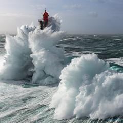 La Jument lighthouse (Ronan Follic) Tags: france bretagne brittany breizh phare lighthouse mer sea seascape paysage tempête storm wave ouessant helicoptere helicopter photo canon eos 5dsr manfrotto ronanfollic iroise atlantique