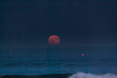 Full Sturgeon Moon (artseejodee) Tags: flow colorphotography sunny sand wildwood midatlantic peaceful nature water newjersey canon capemaycounty ocean sky aquarius night moon float jerseyshore fourseasons waves nj capemay summer beach bluehour fullmoonrising 08260 pink northeast august fullmoon southjersey quiet blue sturgeonmoon wildwoodcrest horizon colorful vivid 365 america lunar sturgeon buoy