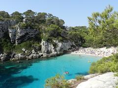 Cala Macarelleta.. Wonderful Menorca (moniq84) Tags: playa beach menorca balears sea seascape seascapes spain espana green blue azur trees paesaggio mediterranean island holidays people wow summer fly water