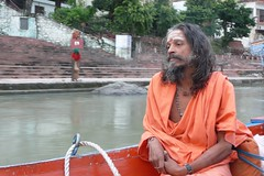 Rishikesh - on the boat. (Nitramsatva) Tags: swami india boat rishikesh