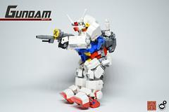 13. Gundam Aim Side (Sam.C (S2 Toys Studios)) Tags: rx782 gundam mobilesuit legogundam lego moc samc s2toys 80s scifi mecha anime japan spacecraft