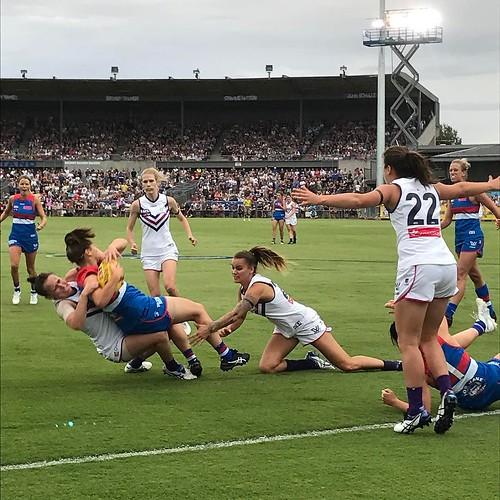 Women's AFL at Whitten Oval. Go Bulldogs! #aflw #bemorebulldog