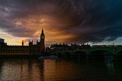 Ominous Skies (scottprice16) Tags: england london city february winter sky dramatic clouds colour evening vortex bigben westminster bridge leicaxvario leica
