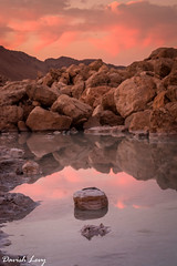Sunset at Dead sea (Drjdam) Tags: deadsea reflaction rocks sunset water