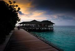 Sunset Maldives (mehtasunil) Tags: ocean travel blue light sunset sea summer vacation sky holiday seascape tourism beach water beautiful skyline clouds island sand resort hasselblad stellar maldives