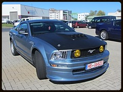 Ford Mustang (v8dub) Tags: auto classic ford car germany deutschland automobile muscle automotive voiture pony american mustang allemagne bremerhaven collector niedersachsen wagen pkw klassik worldcars