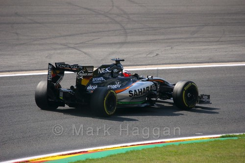 Nico Hulkenberg in Free Practice 2 for the 2015 Belgium Grand Prix