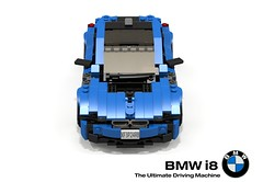 BMW i8 (lego911) Tags: auto summer sports car electric germany bavaria model lego render 94 german bmw hybrid coupe supercar challenge cad sportscar lugnuts elves povray moc 2014 i8 ldd miniland buildoff lego911 apeasetheelvessummerautomobilebuildoffpart2