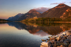 m o r n i n g  r e f l e c t i o n s  15782 (Philip Esterle) Tags: ca trees canada mountains clouds sunrise reflections dawn landscapes rocks skies 4 shoreline lakes scenic alberta skyscapes forests hdr waterton naturephotography waterscapes princeofwaleshotel landscapephotography watertonlakesnationalpark mountainscapes middlewatertonlake berthapeak mtrichards pentaxk3 fingolfinphoto philipesterle