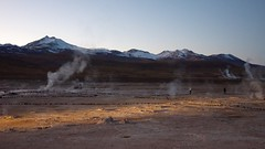 Dawn at the El Tatio Geysers