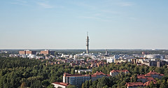 #FCP2015 | Helsinki from the Olympiastadion (oriolsalvador) Tags: city blue summer sky urban green tower nature skyline suomi finland helsinki view sightseeing august balticsea agosto blogging verano olympics tl finlandia 1952 fcp olympiastadion summerolympics canoneos450d helsinkiolympicstadium yrjlindegren toivojntti travelblogging fcp2015 foreigncorrespondentsprogramme oriolsalvador