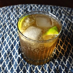 Bourbon & Ginger Ale (The Marmot) Tags: ice flickr drink icecubes vernacular lime bourbon ordinary gingerale photo365 x100s