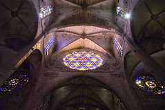 Palma Cathedral (September 2015 #3) (Lazlo Woodbine) Tags: light holiday heritage church architecture spain cathedral pentax religion stainedglass september 1855mm mallorca palma majorca 2015 nothdr