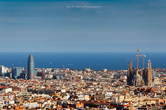 Barcellona (Andreas Gerber) Tags: sky tower familia skyline canon eos spain torre andreas line espana sagrada barcellona spagna gerber agbar catalogna 50d