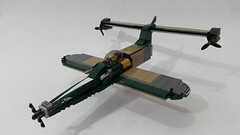Dragonfly v2.0 (Hendri Kamaluddin) Tags: sky plane airplane lego aircraft airship airforce squadron moc fighterplane skyfi foitsop fantasyplane victorysquadron