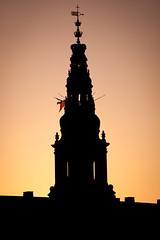 Tower of Christiansborg Palace in the sunset, Copenhagen, Denmark (CloudMineAmsterdam) Tags: baroque supremepower sunsetsunriseduskdawn copenhagendenmarkeuropetraveltourismcitytowncapitalweekendawayfreetimediscoveryurban neobaroquestylechristiansborgpalace architecturetowercrownroyal danishparliamentdanishparliament