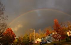 Rainbow Lane (Sarah Hina) Tags: autumn houses fall rainbow suburban suburbia neighborhood athensohio