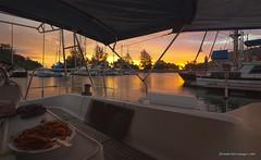 HDR1s (Phuketian.S) Tags: sunset telaga marine langkawi island malaysia yacht sail boat ship cloud sky outdoor bright color sea ocean leisure яхта закат лодка море океан лангкави остров тропики малайзия мачта phuketian evening food meal light
