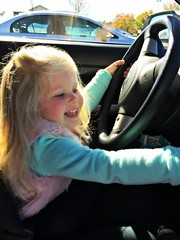 Little Nonna 10/15/15 (dianecordell) Tags: playing cars children fun october driving granddaughter grandparents morgan nonna pretending queensburyny