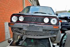 volkswagen Golf GTD (riccardo nassisi) Tags: auto abandoned car vw pc rust ruins cta fiat rusty scrapyard wreck scrap piacenza wrecked lancia ruggine relitto rottame sfascio epave abbandonata rottami sfasciacarrozze autodemolizione